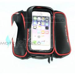 Велосипедная сумка на раму (для инструмента и смартфона 5.5″ , водонепроницаемая, чёрная) (#MD), mod:GA-75