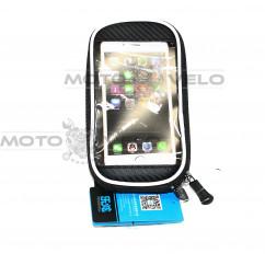 Велосипедная сумка на раму (для инструмента и смартфона 5.5″ , водонепроницаемая, чёрная,ROSWHEEL) (#MD), mod:GA-45