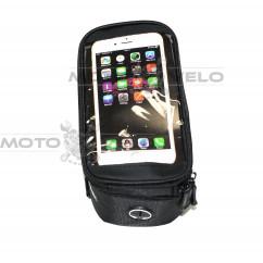 Велосипедная сумка на раму (для инструмента и смартфона 5.5″, чёрная, ROSWHEEL ), mod:GA-43