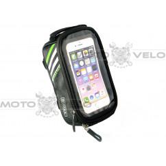Велосипедная сумка на раму (для инструмента и смартфона 5.5″, чёрная, B-SOUL ) mod:GA-41