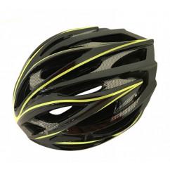 Шлем 'Calibri' FSK-D32, цвет:черный+желтые линии