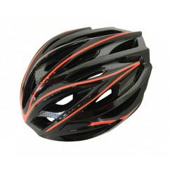 Шлем 'Calibri' FSK-D32, цвет:черный+красные линии