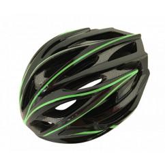 Шлем 'Calibri' FSK-D32, цвет:черный+зеленые линии