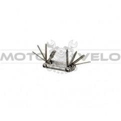 "Шестигранник, набор (2-6 мм, 2 отвертки + 1 головка 8 мм) ""Bike Hand"" Taiwan (mod:YC-262) серый"