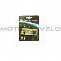 "Шестигранник, набор (2-6 мм, 2 отвертки + 1 головка 8 мм) ""Bike Hand"" Taiwan (mod:YC-262) желтый"