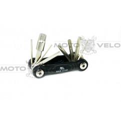 """Шестигранник, набор (2-6 мм, 2 отвертки + 1 головка 8 мм) """"Bike Hand"""" Taiwan (mod:YC-286B) цвет: черный"""