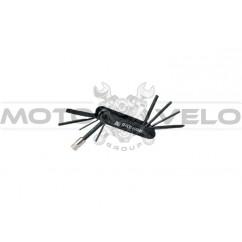 """Шестигранник, набор (2-6 мм, 2 отвертки+1 головка 8 мм) """"Bike Hand"""" Taiwan (mod:YC-274) цвет: черный"""