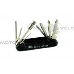 "Шестигранник, набор (2-6 мм, 2 отвертки + 1 головка 8 мм) ""Bike Hand"" Taiwan (mod:YC-273)"