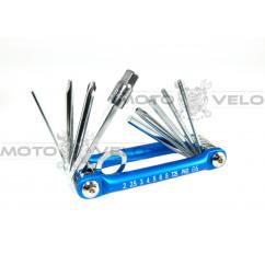 Шестигранник, набор (2-6 мм, 2 отвертки + 1 головка 8 мм) Taiwan (mod:M-1) синий