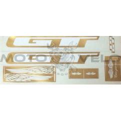 Наклейки вело (набор прозрачные) GT 35х16см