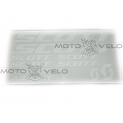 Наклейки вело (набор прозрачные) Scott 39х20см