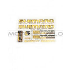 Наклейки вело (набор прозрачные) Shimano 25х17см