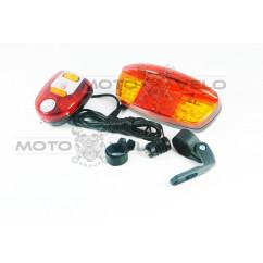 Стоп-сигнал-поворот велосипедный (в сборе), mod:208
