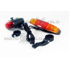 Стоп-сигнал-поворот велосипедный (в сборе), mod:307