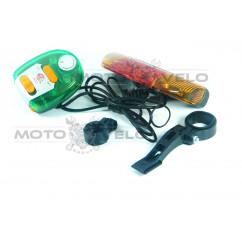 Стоп-сигнал-поворот велосипедный (в сборе), mod:JY-338B