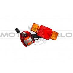 Стоп-сигнал-поворот велосипедный (в сборе), mod:608