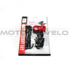 Фары велосипедные (передняя, задняя, с креплением) (#MD), mod:245A