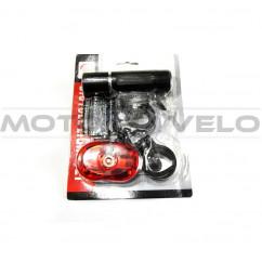 Фары велосипедные (передняя, задняя, с креплением) (#MD), mod:246A