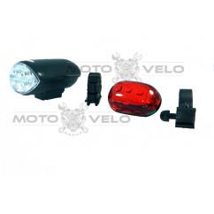 Фары велосипедные (передняя, задняя, с креплением) (#HZR), mod:816A