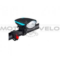 Фара велосипедная (передняя,с креплением, зарядка под USB) (#MD), mod:7588 (G-21)