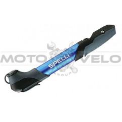 Насос для велосипеда SPELLI SMP-196 AL синий