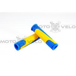 """Грипсы велосипедные """"SPELLI SBG-6708 L"""" желто-синий"""