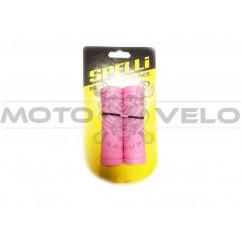 """Грипсы велосипедные """"SPELLI SBG-660 S"""" розовый"""
