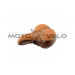Седло велосипедное 'AGILETTE',цвет:коричневый (mod:AZ-109-9BF) (Taiwan)