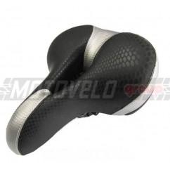 """Седло велосипедное широкое с вентиляцией """"AGILETTE"""",цвет:черно-серый  (mod:AZ-109) (Taiwan)"""