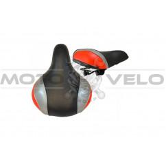 Седло широкое на пластмассовой основе, цвет:черно-красный (mod:SD-7016)
