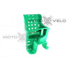 Кресло детское пластиковое на велосипед (багажник) зеленое