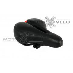 Седло велосипедное широкое с вентиляцией