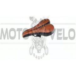 """Седло спортивное с вентиляцией """"MVG"""",цвет:черно-коричневый (mod:SD-7151)"""