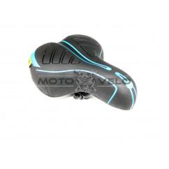 Седло велосипедное 'XS',цвет:черно-синий,черно-красный (mod:SA-38)