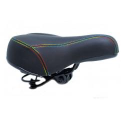 Седло велосипедное с цветными нитками,mod: TY-SD-7054