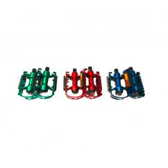 Педали велосипедные алюминиевые, цветные, mod:V-07 (пара)