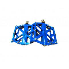 Педали велосипедные алюминиевые на промподшипнике, mod:10 TAIWAN цвет:синий (пара)
