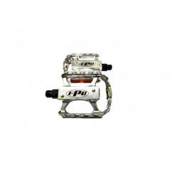 Педали велосипедные алюминиевые, mod:105 FPD TAIWAN цвет:серебристый (пара)