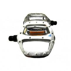 Педали велосипедные алюминиевые, mod:905 FDF TAIWAN цвет:серебристый (пара)