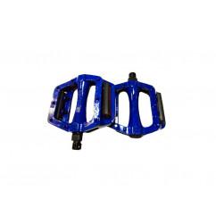 Педали велосипедные алюминиевые, mod:305 FPD TAIWAN цвет: синий, красный (пара)