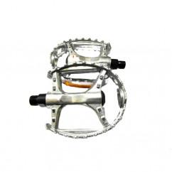Педали велосипедные алюминиевые, mod:894 цвет: серебристый (пара)
