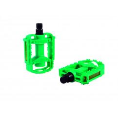 Педали велосипедные пластмассовые (детские),mod:JD-32, цвет:зеленый