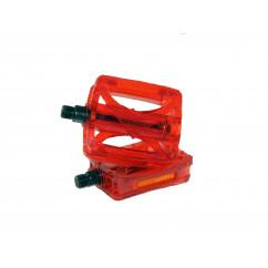 Педали для горного велосипеда (поликарбонат),mod:JD-185 цвет:красный