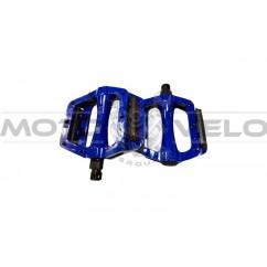 Педали велосипедные алюминиевые, mod:305 FPD (#MD) TAIWAN цвет: синий, красный (пара)