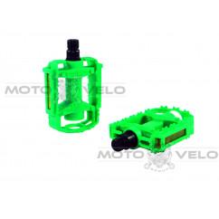 Педали велосипедные пластмассовые (детские),mod:JD-32 (#MD) цвет:зеленый