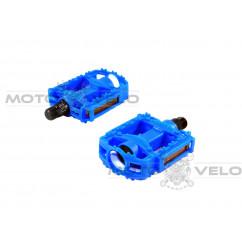 Педали велосипедные пластмассовые (детские),mod:JD-32 (#MD) цвет:синий