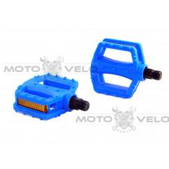 Педали велосипедные пластмассовые (детские),mod:JD-28 (#MD) цвет:синий
