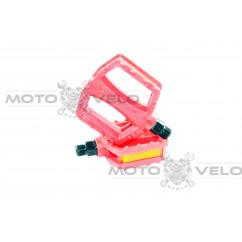 Педали велосипедные пластмассовые (детские),mod:JD-28 (#MD) цвет:красный