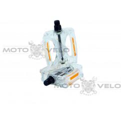 Педали для горного велосипеда (поликарбонат),mod:JD-185 (#MD) цвет:белый