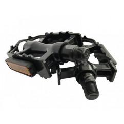 """Педали велосипедные алюминиевые 'NECO"""", mod:WP-97 (MTB 9/16') цвет:черный"""